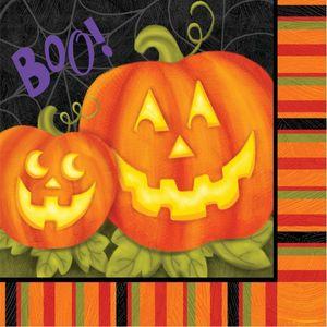16 Halloween Servietten Jolly Jack Kürbis