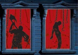 2 Halloween Fenster Bilder Henker