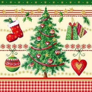 100 Weihnachtsbaum Servietten
