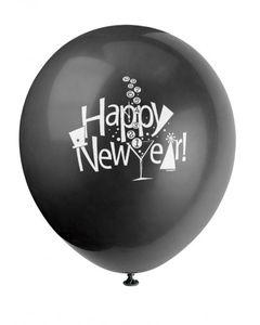 8 Ballons Silvester Countdown