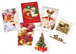 6 Weihnachtskarten Set