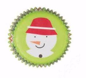 100 Muffin Mini Förmchen Schneemann