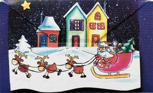 Geldumschlag Weihnachtsmann im Schlitten