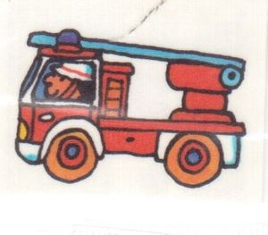 Mini Tattoo Feuerwehrauto