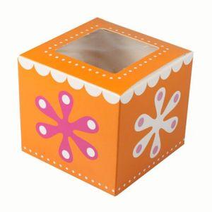 kleine Muffin Gebäck Box Flower