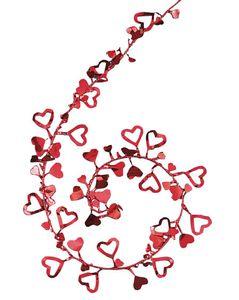 rote Herzen Deko Draht