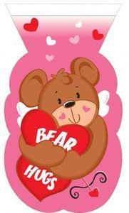 12 Zellophantüten Valentinstag Teddy