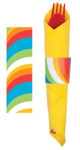 8 Serviettenringe Lollipop