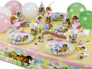 Pferde Party Trinkhalme Charming Horses – Bild 2