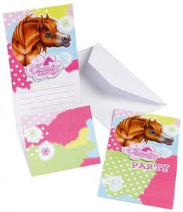 6 Einladungskarten Pferde Party Charming Horses – Bild 1