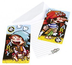 6 Piraaaten Einladungskarten