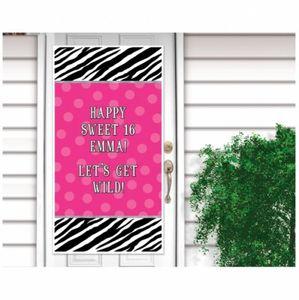Wild Pink personalisierbares Türposter