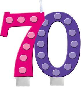 70. Geburtstag Pünktchen Kerze