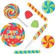 9 Pappschildchen Lollipop Party