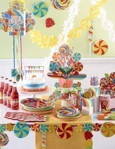3 hängende Girlanden Lollipop Party – Bild 3