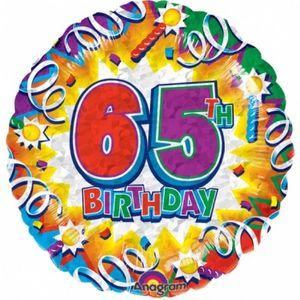 65. Geburtstag Folien Ballon