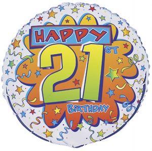Geburtstags Folien Ballon zum 21.
