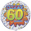 Geburtstags Folien Ballon zum 60.