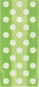 20 Zellophantütchen hellgrüne Punkte – Bild 2