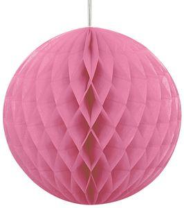 Wabenball rund helles Pink 20,5 cm