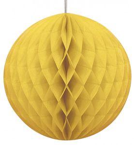 Wabenball rund gelb 20,5 cm
