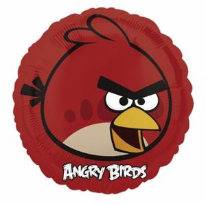 Folienballon Angry Birds roter Vogel