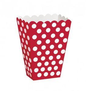 8 Popcorn Boxen rote Punkte