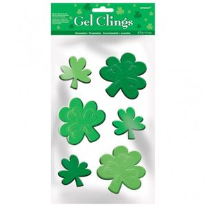 St. Patricks Day Kleeblatt Fenster Gel Sticker