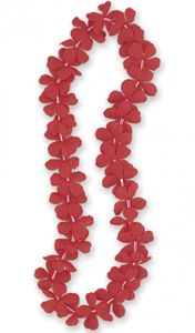Hawaii Kette Blumenkette Rot