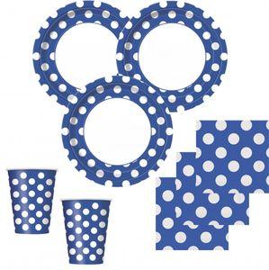 8 Teller blaue Punkte – Bild 2