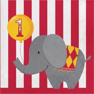 1. Geburtstag 16 Servietten Zirkus Spaß