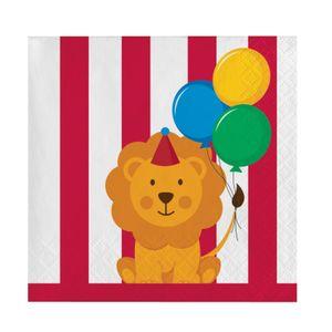 16 kleine Servietten Zirkus Spaß