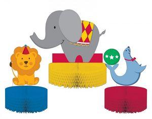 3 kleine Tischaufsteller Zirkus Spaß