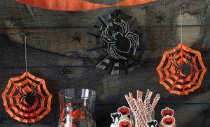 3 Dekofächer Spinnennetz mit Spinne – Bild 2