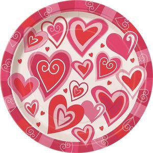 8 kleine Teller Verspielte Herzen