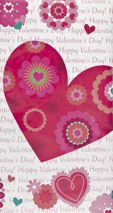 Tischdecke Herzchen und Blumen zum Valentins Tag