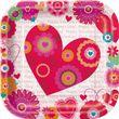 8 Pappteller Herzchen und Blumen zum Valentins Tag