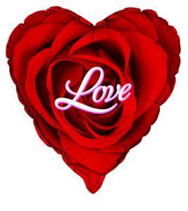 Love roter Herz Folienballon