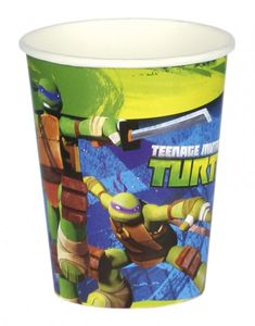 8 Ninja Turtles Becher