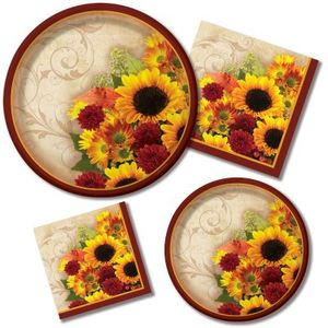 8 kleine Sonnenblumen Teller