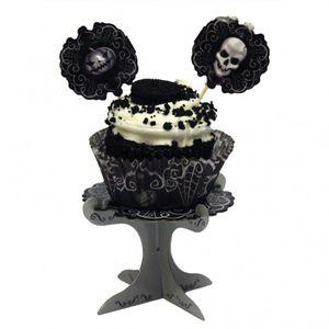 4 kleine Totenkopf Mini Muffin Ständer