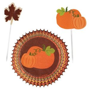 Muffinförmchen Set Herbst Kürbis