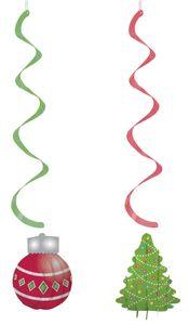 3D Weihnachts Swirl Girlanden