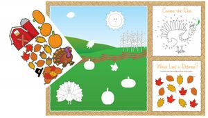 8 Kinder Tischsets Herbst