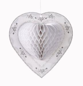 3 Weiße Herz Dekobälle