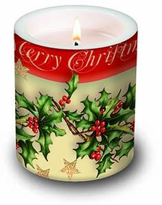 Fröhliche Weihnachtskerze