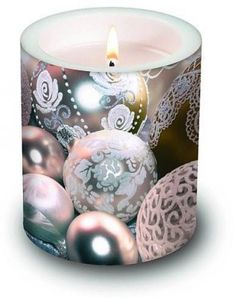 Kerze White Balls