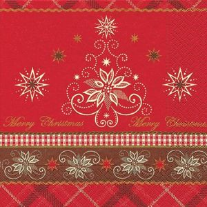 Servietten Alpine Christmas