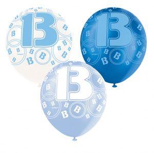 13. Geburtstag Zahlen Ballons Blau