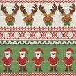 20 Servietten Weihnachtsmann und Rentier